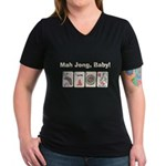 Mah Jong Baby Women's V-Neck Dark T-Shirt