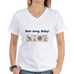Mah Jong Baby Women's V-Neck T-Shirt