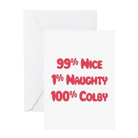 Colby - 1% Naughty Greeting Card