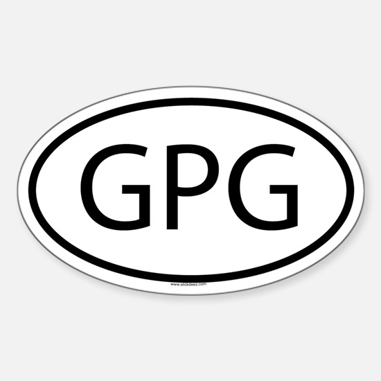 GPG Oval Decal