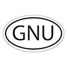 GNU Oval Decal