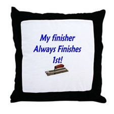Cute Concrete finisher Throw Pillow