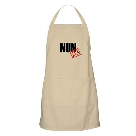 Off Duty Nun BBQ Apron