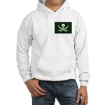 Green Pirate Hooded Sweatshirt