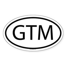 GTM Oval Decal
