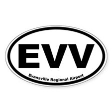 Evansville Regional Airport Oval Decal