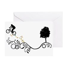 MTB-Black Greeting Cards