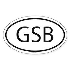 GSB Oval Bumper Stickers