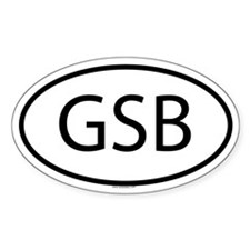 GSB Oval Decal