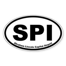 Abraham Lincoln Capital Airport Oval Decal