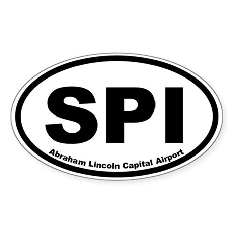 Abraham Lincoln Capital Airport Oval Sticker