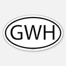 GWH Oval Decal