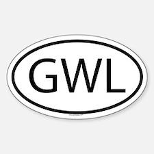 GWL Oval Bumper Stickers