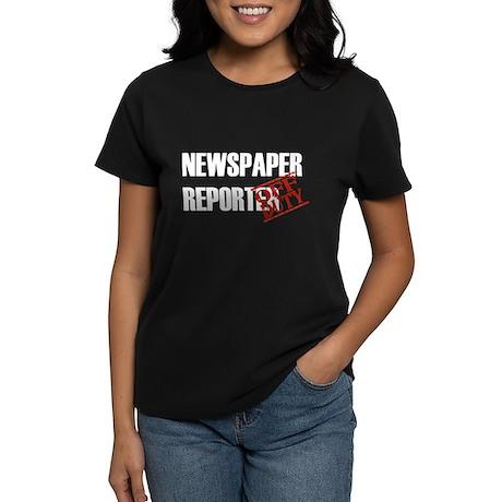 Off Duty Newspaper Reporter Women's Dark T-Shirt