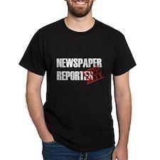 Off Duty Newspaper Reporter T-Shirt