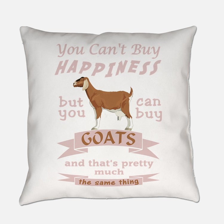 Goat Happiness Everyday Pillow