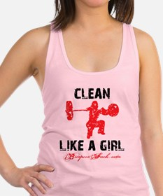Unique Workout like girl Racerback Tank Top