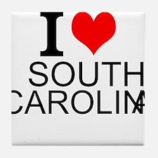 I Love South Carolina Tile Coaster