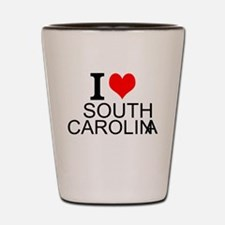 I Love South Carolina Shot Glass