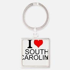 I Love South Carolina Keychains