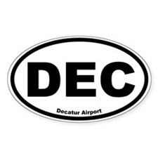 Decatur Airport Oval Decal