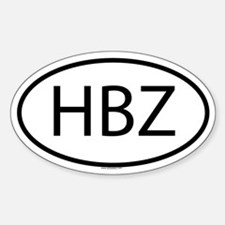 HBZ Oval Decal