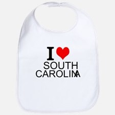 I Love South Carolina Bib