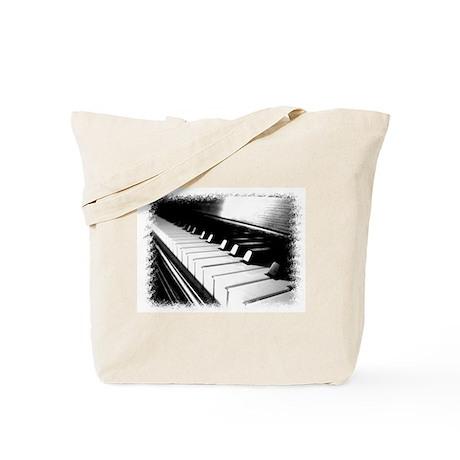 Down The Piano Keys (B&W) Tote Bag