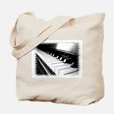 Down The Piano Keys (B&W) Tote Bag