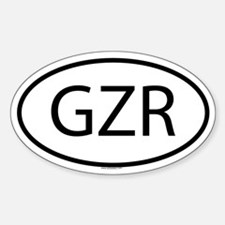 GZR Oval Decal