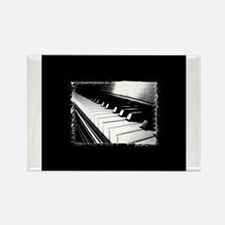 Down The Piano Keys (B&W) Rectangle Magnet