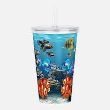Aquarium Sealife Fish Acrylic Double-wall Tumbler