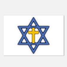Star of David with Cross Postcards (Package of 8)