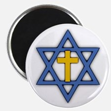 Star of David with Cross Magnet