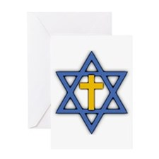 Star of David with Cross Greeting Card