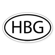 HBG Oval Decal
