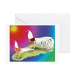 Yokohama Rooster and Hen Greeting Cards (Pk of 10)