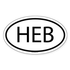 HEB Oval Decal
