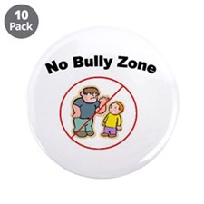 """No Bully Zone - 3.5"""" Button (10 pack)"""