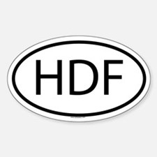 HDF Oval Decal