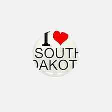I Love South Dakota Mini Button