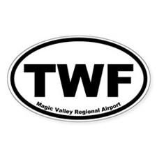 Magic Valley Regional Airport Oval Decal
