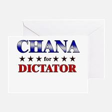 CHANA for dictator Greeting Card