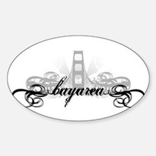Bay Area Bridge Oval Decal