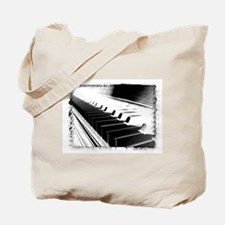 Down The Piano Keys (B&W Nega Tote Bag