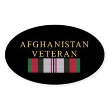 Afghanistan Veteran Oval Decal
