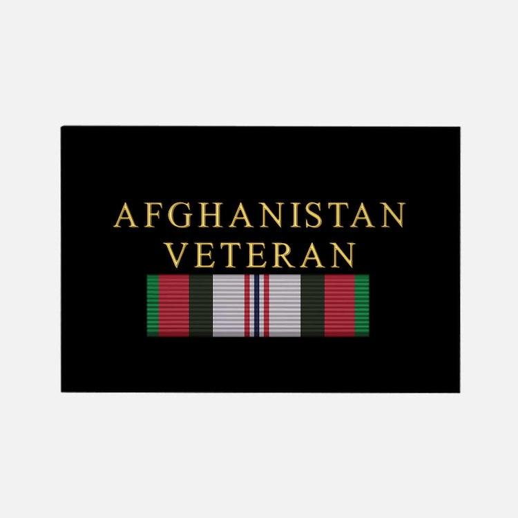 Afghanistan Veteran Rectangle Magnet