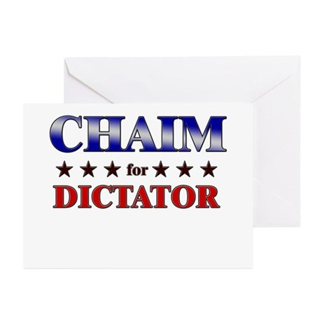 CHAIM for dictator Greeting Cards (Pk of 20)