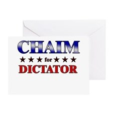 CHAIM for dictator Greeting Card