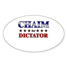 CHAIM for dictator Oval Decal